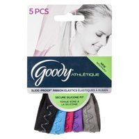 Goody Athlétique SlideProof SiliconeWave Ribbon Elastics - 5 Count
