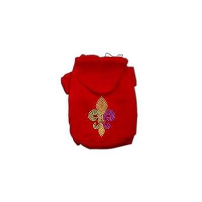 Ahi Mardi Gras Fleur De Lis Rhinestone Hoodies Red S (10)