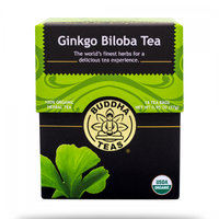 Buddha Teas Ginkgo Biloba 100 Percent Organic Herbal Tea 18 Bags Per Packet