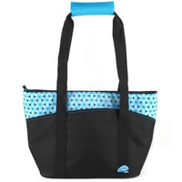 Thermos Raya Blue Bordered Black Insulated 12 Can Lunch Tote