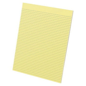 Ampad Glue Top Narrow Ruled Pads, Letter - Yellow (50 Sheets Per Pad)