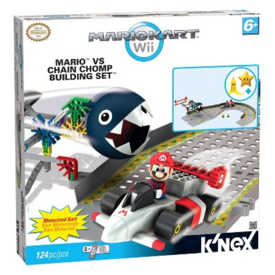 K'NEX Mario Kart Will Mario vs Chain Chomp Building Set