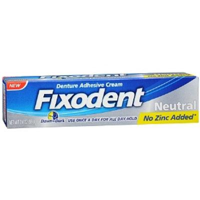Fixodent Denture Adhesive Cream Neutral