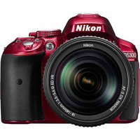 Nikon Red D5300 DSLR Camera with 24.2 Megapixels, Body Only