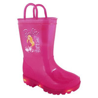 Toddler Girl's Light Up Barbie Rain Boots - Pink 11