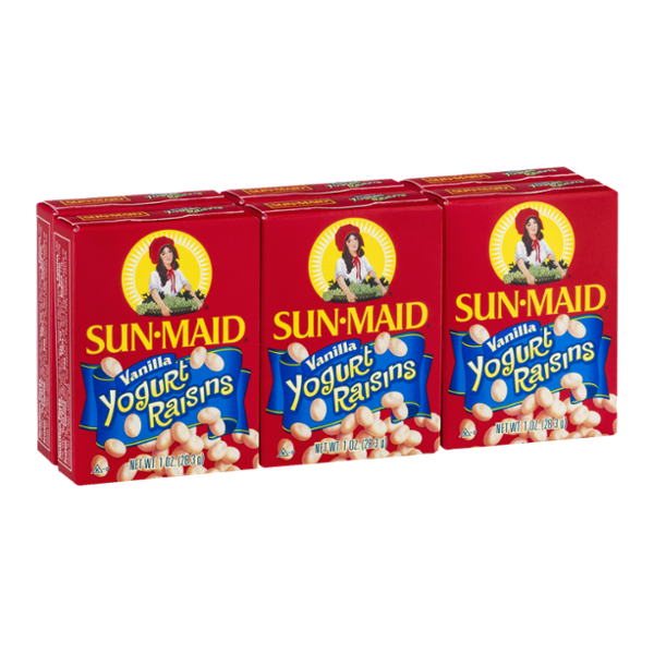 Sun-Maid Yogurt Raisins Vanilla - 6 PK
