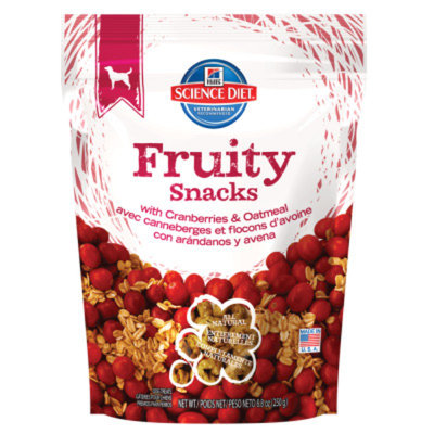 Hill's Science Diet Hill'sA Science DietA Fruity Snacks All Natural Dog Biscuits