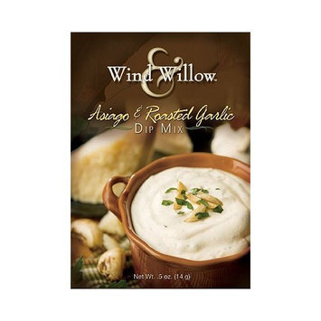 Wind and Willow Asiago & Roasted Garlic Dip Mix - .4 Ounce (4 Pack)