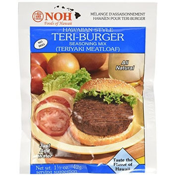 Noh Foods Of Hawaii NOH Hawaiian Style Teri-Burger, 1.5-Ounce Packet, (Pack of 12)