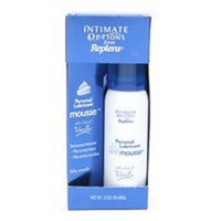 Intimate Options Personal Lubricant Mousse - with a hint of vanilla, 2 oz,(Replens)