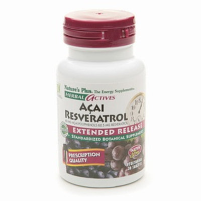 Nature's Plus Acai Resveratrol 60 mg / 62.5 mg Polyphenols Extended Release