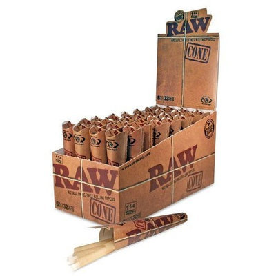 CASE OF RAW CONES. 6 CONES PER PACK AND 32 PACKS PER CASE! 192 TOTAL CONES!