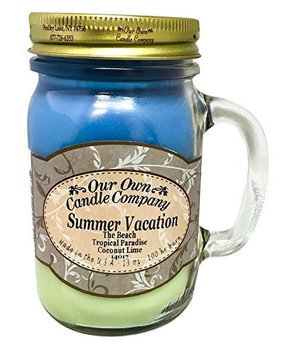 13oz SUMMER VACATION Scented Jar Candle (Our Own Candle Company Brand) Made in USA - 100 hr burn time