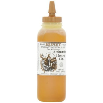 Ambrosia Pure Honey From Colorado's Western Slope, 23-Ounce Bottles (Pack of 4)