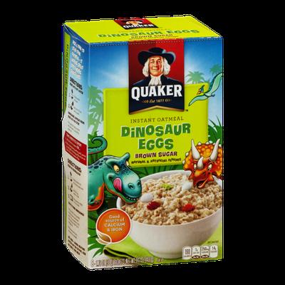Quaker Instant Oatmeal Dinosaur Eggs Brown Sugar - 8 CT