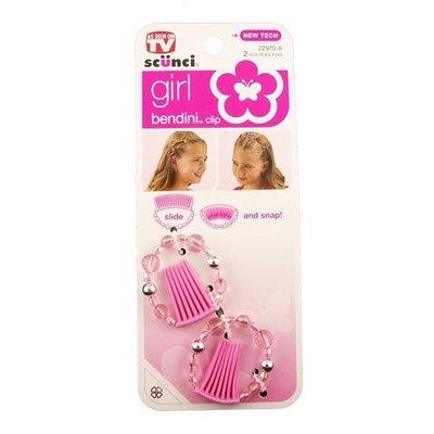 Scunci Bendini Beaded Snap Combs-Pink-2 pk
