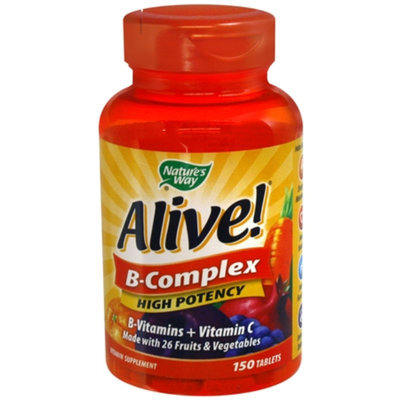 Nature's Way Alive! Max B-Complex, High Potency, Tablets