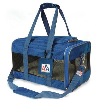 Sherpa-American Airlines Navy Blue Duffle Pet Travel Carrier Tote Bag. Medium 17
