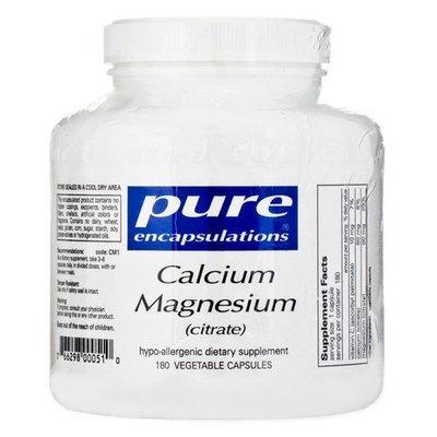 Pure Encapsulations - Calcium/Magnesium (citrate) 180's (Premium Packaging)