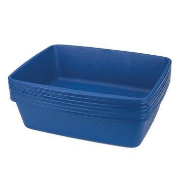 Clean Go Pet Plastic Litter Cat Pan, 6-Pack, Blue