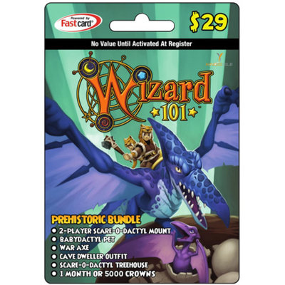 inComm KingsIsle Wizard101 Prehistoric Bundle $29 Card