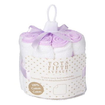 Tots Fifth Ave 1724 Terry Knit Washcloths Mauve