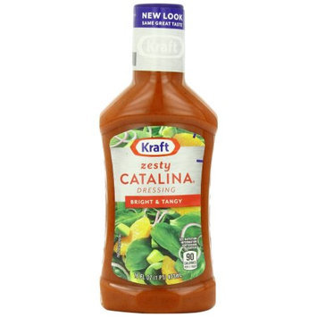 Kraft Salad Dressing Zesty Catalina Dressing, 16 FL OZ (Pack of 6)