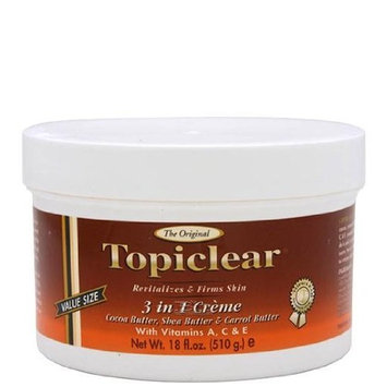Topiclear 3 in 1 Creme Cocoa Butter, Shea Butter, Carrot Butter 18 fl oz