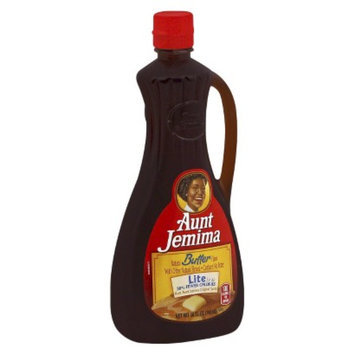 Quaker Aunt Jemima Natural Butter Flavor Lite Maple Syrup 24 oz