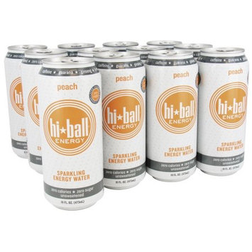 Hi Ball - Sparkling Energy Water Peach - 16 oz.