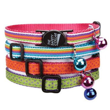Savvy Tabby Ribbon Cat Collar Pink Dot