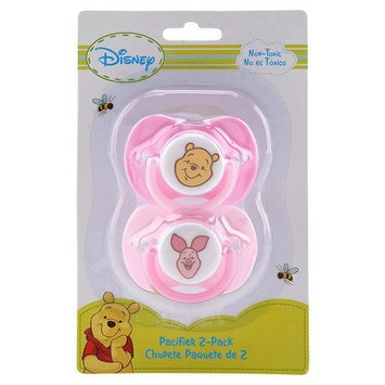 Disney Baby Winnie The Pooh Pacifier Holder 2 Pack - Pink Girl