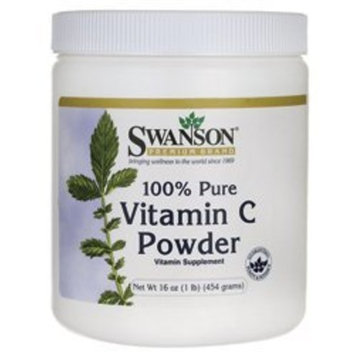 Swanson Premium 100% Pure Vitamin C Powder 16 oz (454 grams) Pwdr