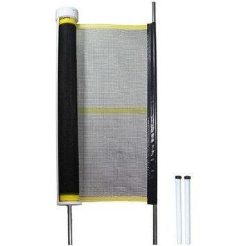 Kidkusion Kid Kusion 4720 Retractable Driveway Guard 20 ft - Yellow Black