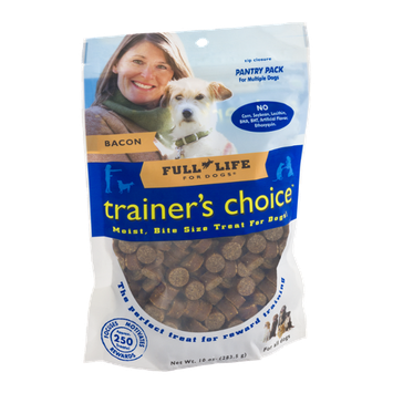 Full Life for Dogs Trainer's Choice Dog Treats Bacon - 250 CT