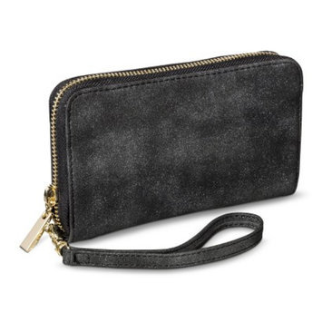 Shimmer Phone Case Wallet with Removable Wristlet Strap - Gray