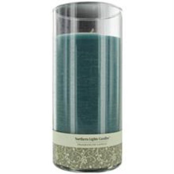 OCEAN BREEZE by Ocean Breeze ONE 7.5 inch GLASS PILLAR SCENTED CANDLE.