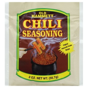 Old Hammett Chili Hammett Chili Chili Seasoning, 2-Ounce (Pack of 24)