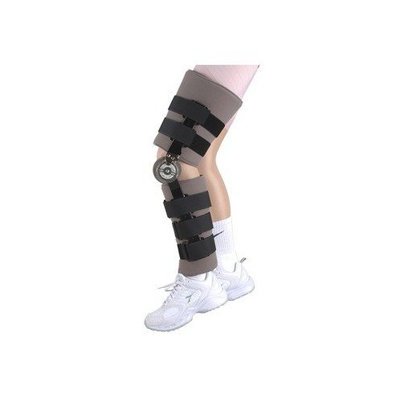 Elite Orthopaedics Post Operative Range of Motion Knee Brace Size: Short