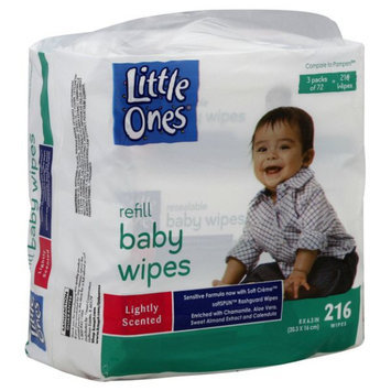 Little Ones Refill Baby Wipes, Lightly Scented, 216 wipes