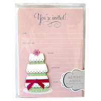 Anna Griffin Wedding Cake Invitations 10-ct.