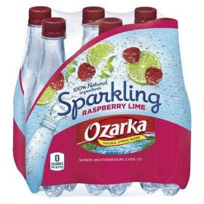 Ozarka OZARKA SPARKLING .5L/6PK RASPBERRY LIME