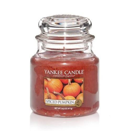 Yankee Candle Spiced Pumpkin Medium Jar Candle, Food & Spice Scent