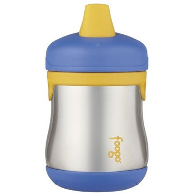 Thermos Foogo Leak-Proof SS 7 Ounce Sippy Cup, Blue, 9 Months (Discontinued by Manufacturer)
