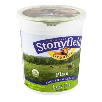 Stonyfield Organic Lowfat Yogurt Plain