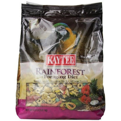 Kaytee Foraging Rainforest Macaw/Parrot Diet, 4-Pound