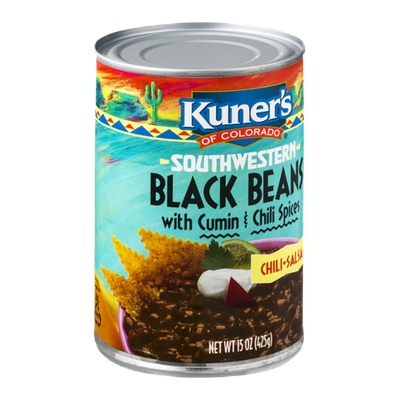 Kuner's of Colorado Southwestern Black Beans with Cumin & Chili Spices