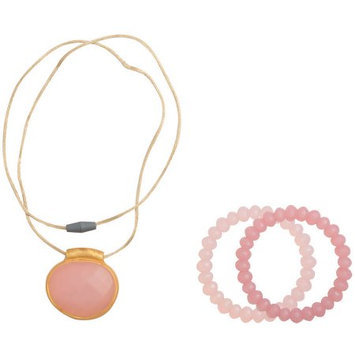 Babies R Us Infantino Teething Gems Pendant and Bracelet Set - Pink