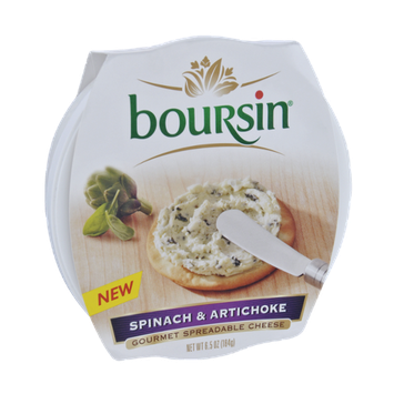 Boursin Spinach & Artichoke Gourmet Spreadable Cheese