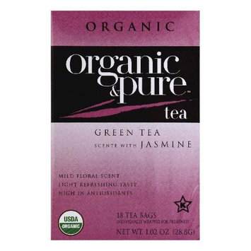 Organic & Pure Organic and Pure Tea Green Tea - 18 Tea Bags